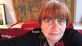 "Agnès Varda sends her word ""hope"" to the film <i>223 words</i> which has now reached 100 words"